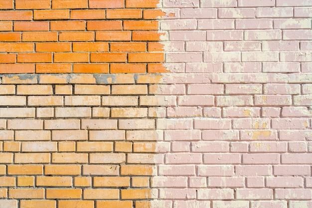 Mur de bâtiment en brique rose. intérieur d'un loft moderne. arrière-plan