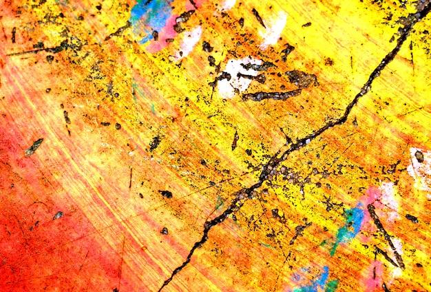 Mur de béton coloré grunge peinture abstrait texture