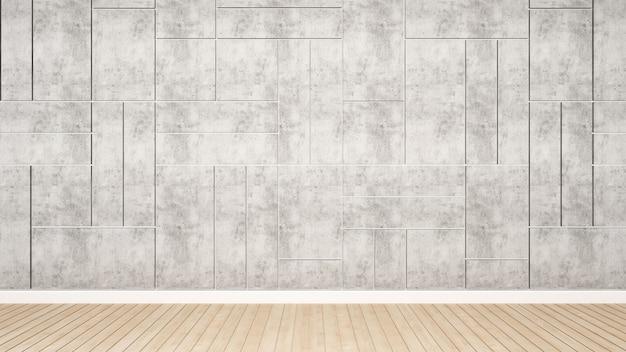 Mur de béton décorer une pièce vide pour les œuvres d'art, interior desi