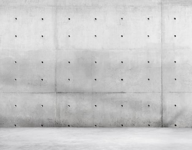 Mur de béton et plancher de ciment pour espace de copie