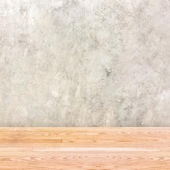 Mur en béton et table en bois, intérieur vide pour ajouter votre produit