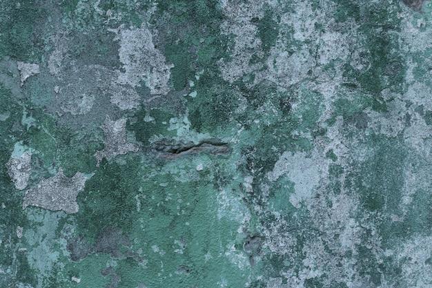 Mur de béton vert avec espace de copie de surface de texture de taches pour la conception ou le texte, orientation horizontale