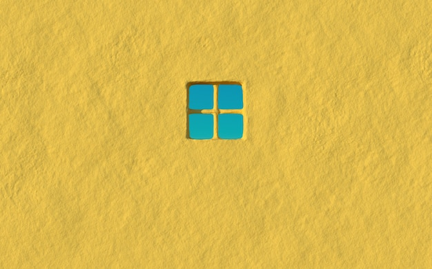 Mur de béton vide rendu de maison de ville avec un ciel clair