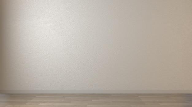 Mur blanc et plancher en bois