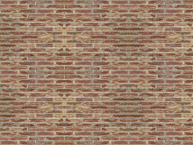 Mur de blocs de brique rouge patiné pour fond vintage.