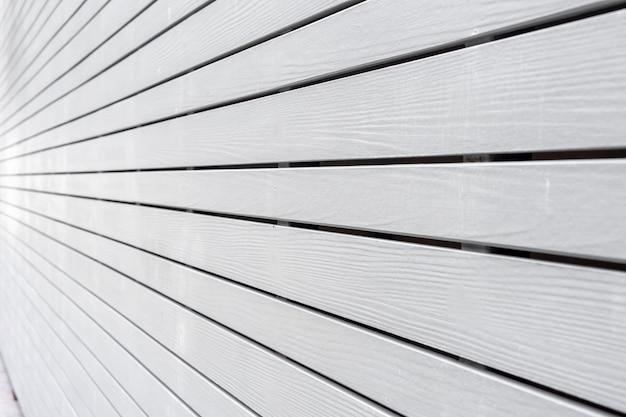 Mur en bois blanc en perspective texture background