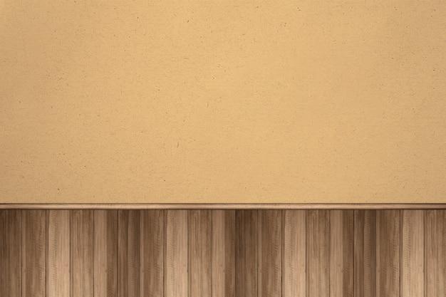 Mur en bois avec fond marron
