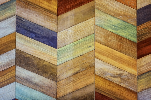 Mur en bois moderne peint pour fond texturé
