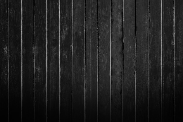 Mur en bois noir