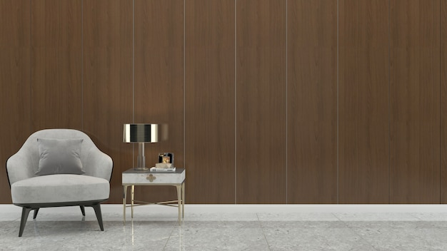 Mur bois parquet interieur sofa chaise lampe interieur 3d salon