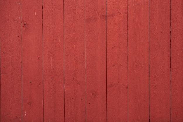 Mur en bois peint texturé rouge utilisé comme fond naturel