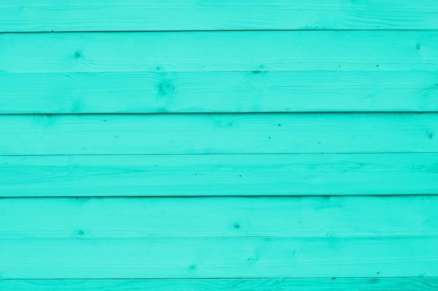 Mur en bois turquoise