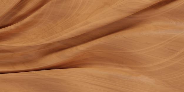 Mur en bois vague abstraite. modèle en bois, illustration 3d