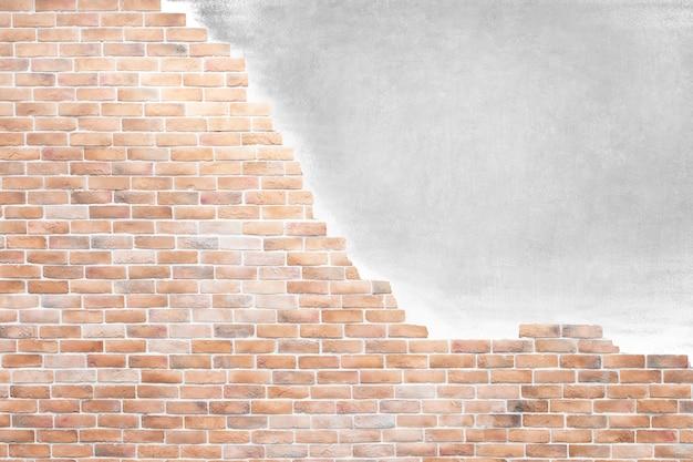 Mur de brique brun