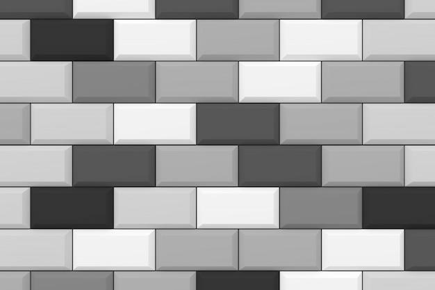Mur de brique moderne rendu 3d.