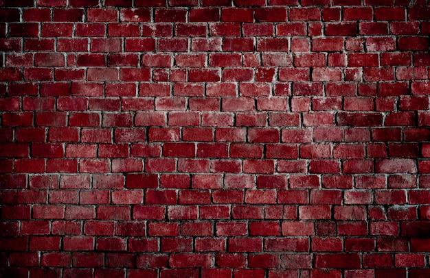 Mur de brique rouge texturé