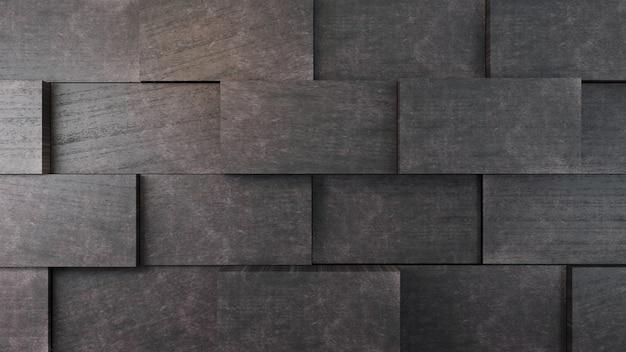 Mur de briques en béton foncé