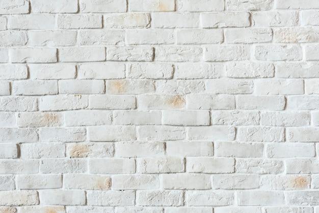 Mur de briques blanches texturé