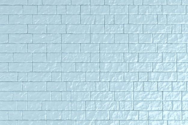 Un mur de briques bleu clair. illustration 3d