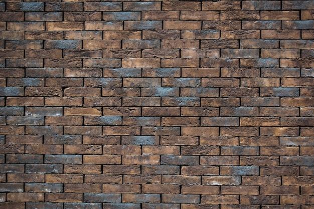 Mur de briques bleu et orange vieux mur de briques fond de mur de briques