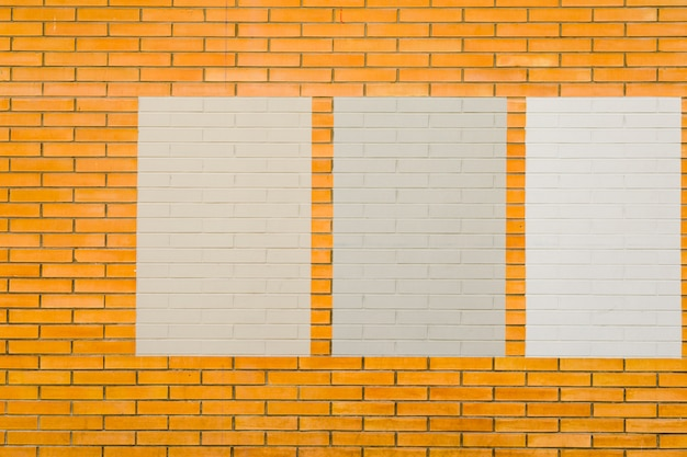 Mur de briques avec cadres