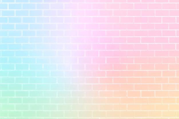 Mur de briques de couleur licorne de fond