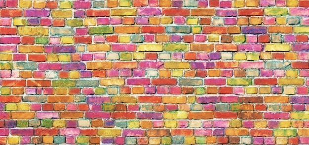 Mur de briques de couleur