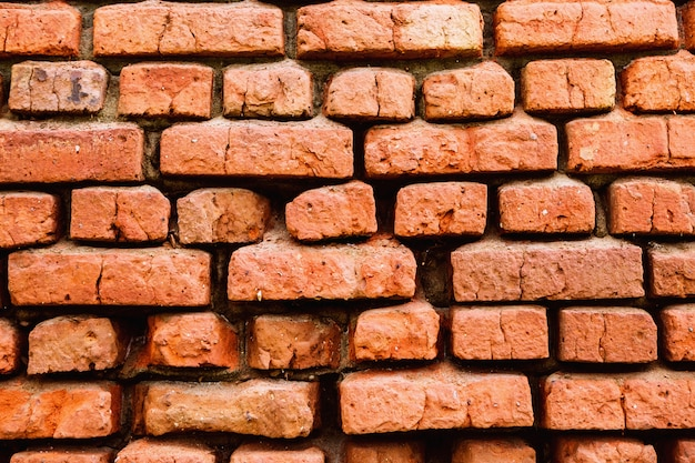 Mur de briques de fond texture de brique ancienne maison