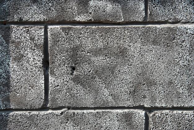 Le mur de briques gris grunge peut être utilisé pour le fond
