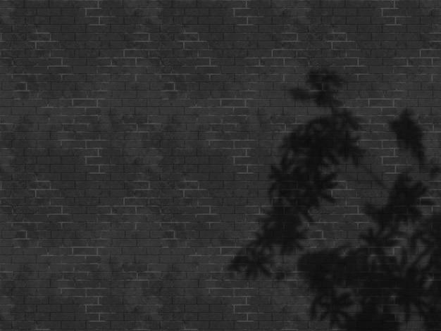 Mur de briques grunge 3d avec superposition d'ombre de congé