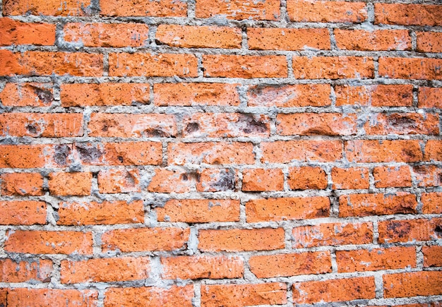 Mur de briques grunge marron coloré