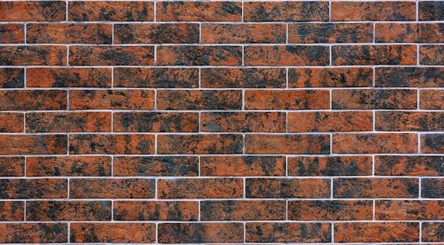 Mur de briques grunge marron et noir, texture de fond abstrait