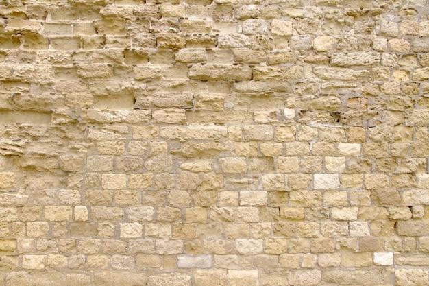 Mur de briques jaune