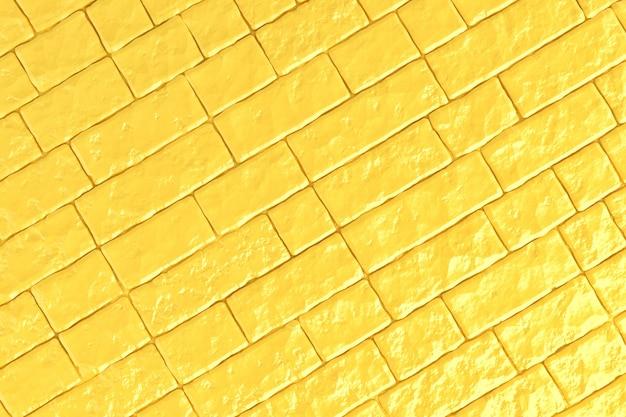Un mur de briques jaunes. illustration 3d