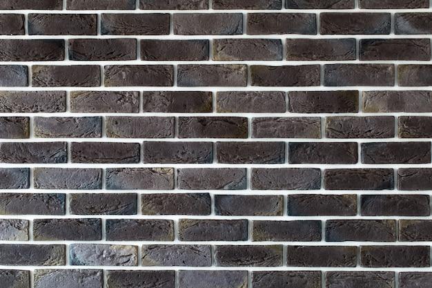 Mur de briques marron foncé