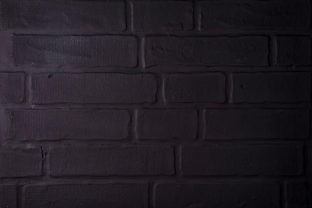 Mur de briques noires, fond maçonné pour la conception