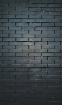 Mur en briques noires