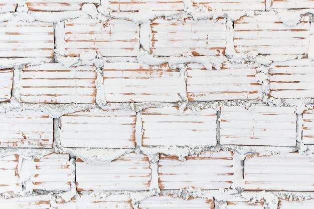 Mur de briques de peinture blanche modèle de texture de style loft