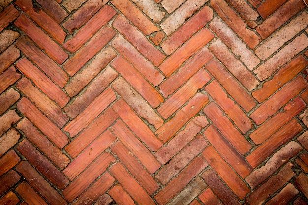Mur de briques rouge