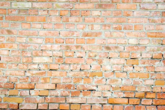 Mur de briques rouges. fond de brique