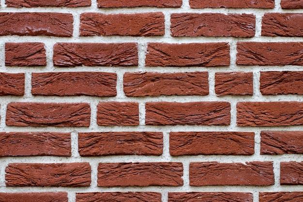 Mur de briques rouges grunge avec espace copie.