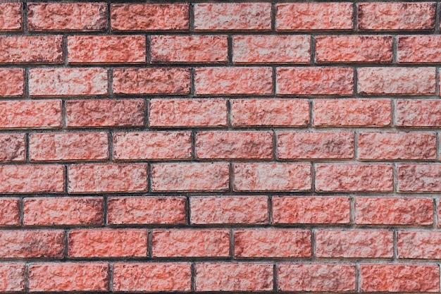 Mur de briques rouges. maçonnerie horizontale. surface du mur de maçonnerie. texture. texture de mur de maçonnerie en bloc.