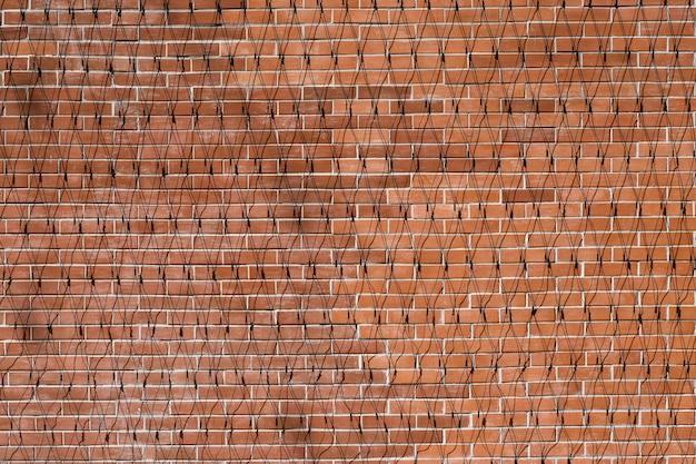 Mur de briques rouges texture fond grunge pour la décoration intérieure