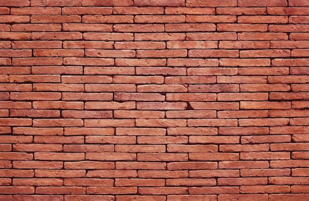 Mur de briques rouges texture fond avec vieux modèle de style sale et vintage