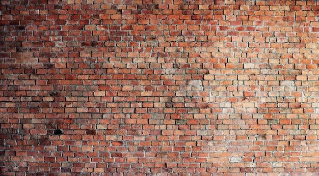 Mur de briques rouges vides