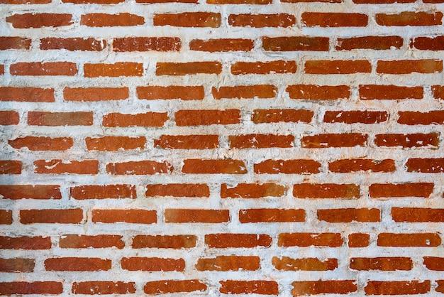 Mur de briques rouges