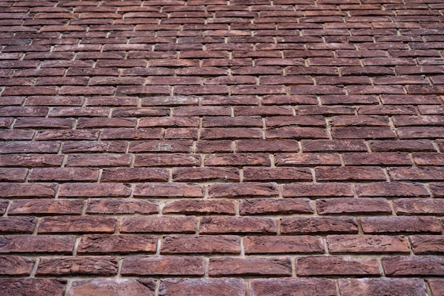 Mur de briques. texture de brique rouge avec remplissage blanc