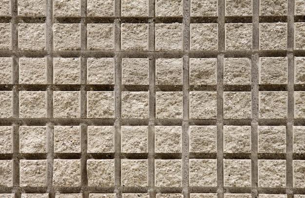 Mur carré en ciment