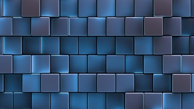 Un mur de cellules lumineuses rectangulaires.