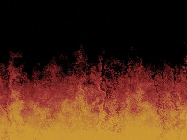 Mur de ciment feu abstrait rendu 3d